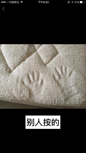 梦洁家纺出品 MAISON 床垫床褥 单双人床垫被 玺悦类羊毛床笠式保护垫 1.8米床 180*200cm 晒单图