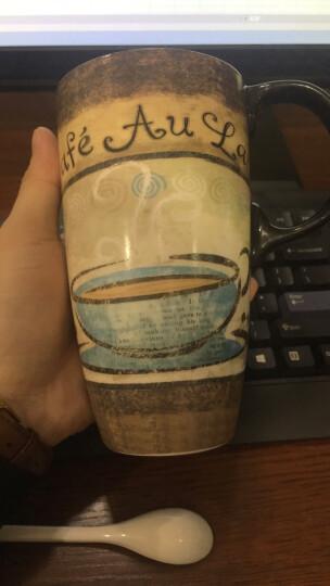 爱屋格林 手绘陶瓷马克杯 情侣艺术咖啡杯 带盖杯子 水杯 500ML 礼盒装浪漫巴黎 3LTM4160L 晒单图