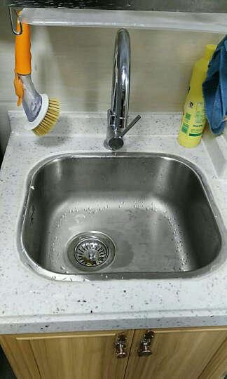美国艾肯ELKAY  304不锈钢洗菜盆 水槽单槽台下盆 厨房吧台小方槽小水槽套餐 全铜龙头套餐 420*370*170 mm 晒单图