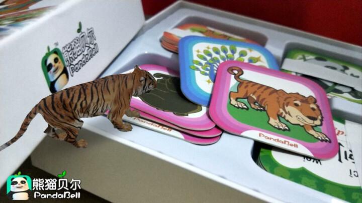 乾越(qianyue) 贝尔魔法动物园宝宝智能早教儿童立体认知动画有声识字玩具3D学习卡 魔法动物园 晒单图