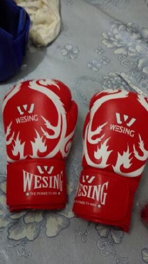 九日山专业成人儿童拳击手套 散打拳套 自由搏击拳套仿皮训练泰拳拳套普及型打沙包沙袋手套 成人-红色浪花(一副2只装) 单码 晒单图