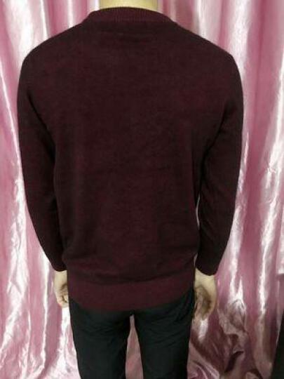 卡丹路羊毛羊绒衫旗舰店品牌男装 纯羊绒圆领针织衫男 男衫春秋新款青年男式毛衣 哈青色 46(165/S) 体重115-120 晒单图