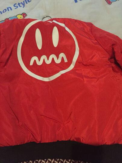 短外套女2020春新款韩版宽松夹克上衣大码棒球服 红色7356 M 晒单图