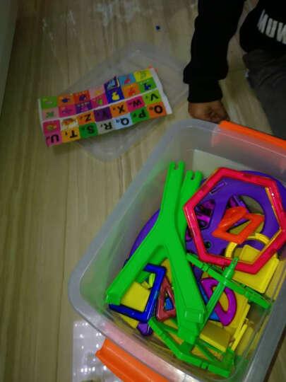 七彩梦磁力片积木散片儿童玩具磁铁磁性吸铁石3-6-7-10周岁男女孩 393件249片磁力片20种形状摩天轮车轮4D卡 晒单图
