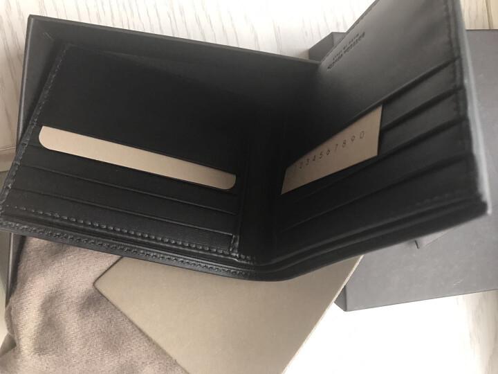 葆蝶家BV宝缇嘉男女通用短款牛皮革敞口钱夹卡包编织折叠钱包两折钱包113993 深灰色 晒单图