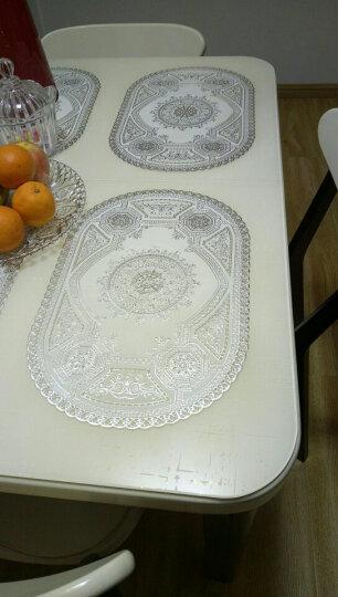 欣伊 PVC长方形烫银餐垫 隔热垫 餐桌垫 防水垫 防烫垫 茶几垫 长方形-金盏花 40*83Cm单片装 晒单图