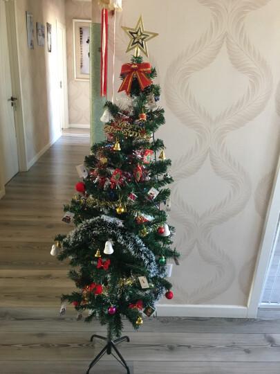 捷昇 圣诞树套餐光纤彩灯发光加密枝头 圣诞节装饰品礼物圣诞帽 圣诞装饰配件(栅栏20片装 适用1.5米) 晒单图