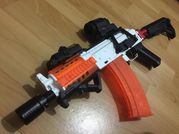 睿祥 下供弹M4水蛋枪金属火帽NERF改装配件 可调节仿真模型消音 骑士 晒单图