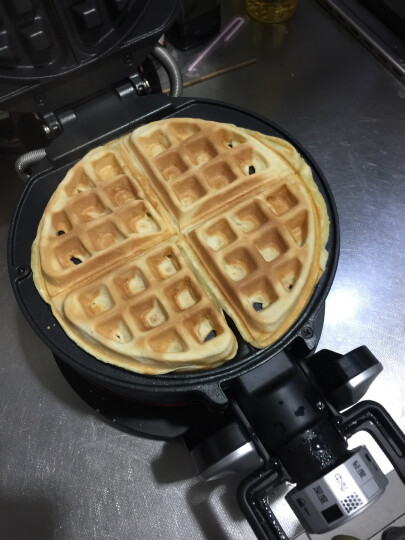 灿坤(EUPA)华夫饼机松饼机 翻转饼炉 电饼铛家用 双面加热 加深加大电饼档 焦度可调 晒单图