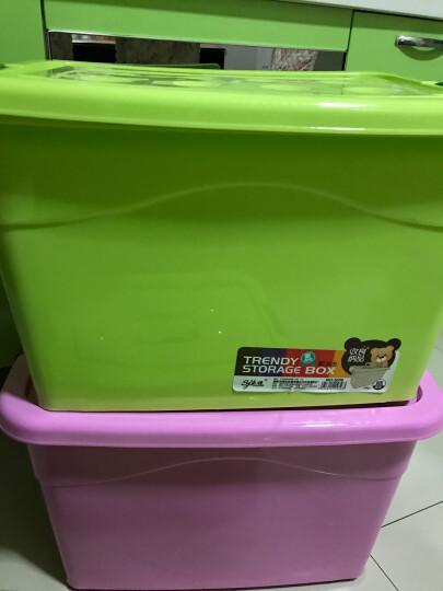 【2件8.8折】佳霸250L特大号塑料收纳箱超大整理储物箱加厚耐摔家用衣服衣物被子汽车整理箱子轮玩具 粉色80L(4个滑轮)57*42*34 晒单图