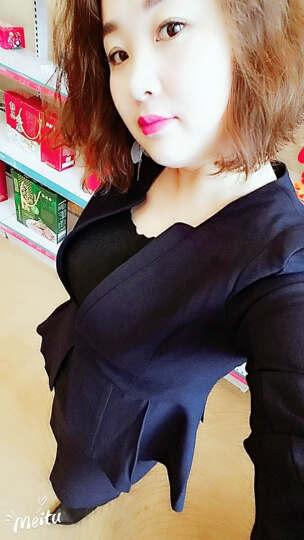 艾尚臣职业装女装套装2018春夏高端时尚短袖OL韩版正装女衬衫女大学生工作服小西装女 藏青西装+藏青半裙 XL(建议115-125斤左右) 晒单图