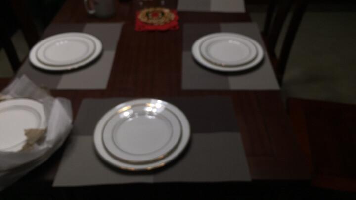 西餐盘套装欧式骨瓷牛排盘子点心盘圆平盘纯白色金边餐具意面餐盘 不锈钢加厚刀叉勺 晒单图