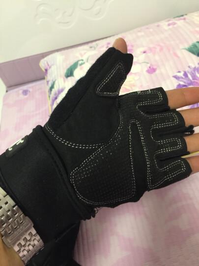 LAC健身手套男运动女护腕器械训练防滑透气夏半指单杠 镂空透气 黑色 S码 晒单图