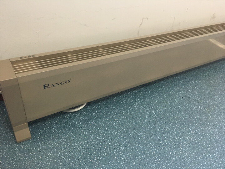 美国兰戈(RANGO)取暖器/电暖器/电暖气 家用踢脚线型 HE智能变频APP控制款对流式电加热器 香槟金色 2500W智能变频app控制款1.52米长 晒单图