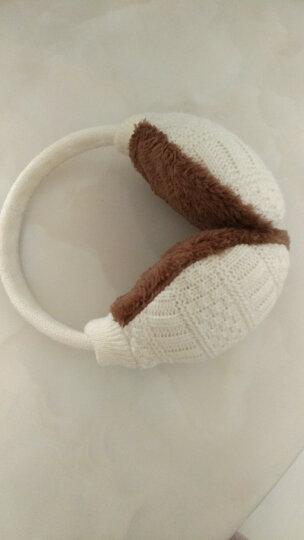 苏子 耳罩 保暖耳套 女男士耳包耳暖护耳朵套毛线耳捂 咖啡色 晒单图