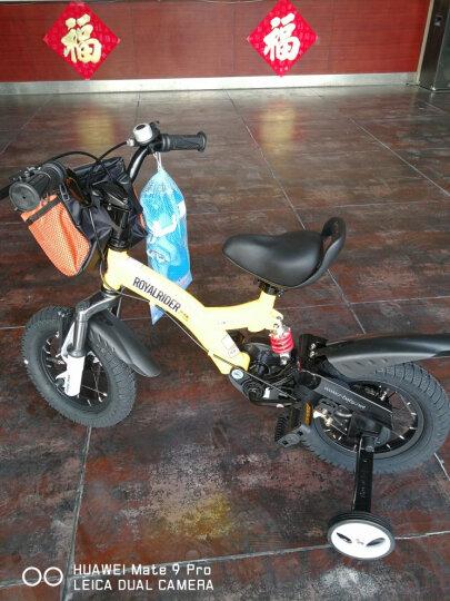 优贝(RoyalBaby)小飞熊儿童自行车 小男孩女孩自行车山地减震单车 粉色 14寸 晒单图