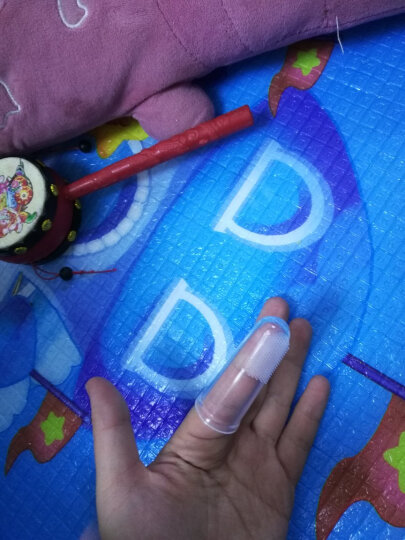 ange 韩国原装进口新生婴儿指套牙刷硅胶软毛细毛手指乳牙刷儿童宝宝训练牙刷0-1-2岁 手指牙刷+盒子 晒单图