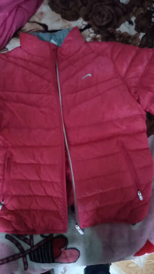 贵人鸟羽绒服女装外套休闲运动服保暖修身 -3玫红 L 晒单图