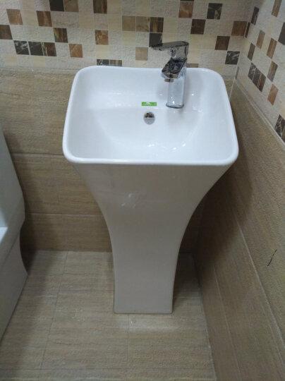 尚象卫浴(ELEFANTE) 立柱盆 小卫生间洗手盆 小型洗面盆 连体洗手盆 阳台洗脸盆 小盆+B龙头套餐 晒单图