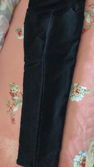 我魅妮美孕妇装春夏装2018新款孕妇连衣裙棉质打底上衣套装孕妇托腹打底裤两件套 灰色上衣+黑裤(长袖) XL 晒单图