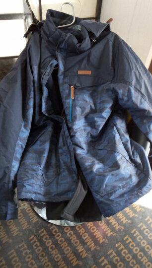 杜戛地(DZRZVD) 冲锋衣 三合一 两件套 户外服装 冲锋衣裤 男 女 迷彩服 登山服 牛仔蓝 3XL/码 晒单图