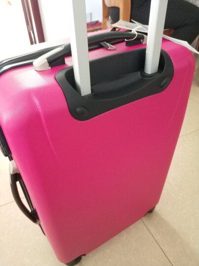 博兿(BOYI)拉杆箱24英寸男女双轴承万向轮旅行箱钻石纹系列行李箱 BY12002玫红色 晒单图