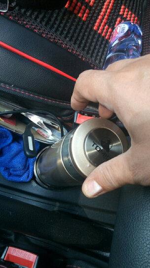特美刻TOMIC双层不锈钢自动断电车载电热水杯车载汽车加热杯电热保温杯电水壶烧水杯350ml 3300-弹扣盖-金色 晒单图