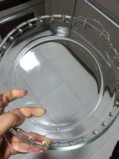 百钻玻璃烤盘圆形披萨盘家用微波炉烤箱专用烘焙模具 9寸(口直径227mm,高43mm) 晒单图