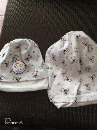 Ventree 春秋月子帽双层棉质加大码产妇包头巾孕妇帽秋冬亲子帽产后用品 大人帽+宝宝帽灰色小熊 晒单图