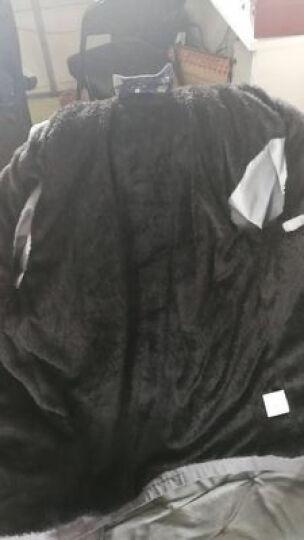 MomenZone 2020春秋季新款夹克时尚潮人卫衣连帽卫衣中长款男士风衣外套 加绒款#2218黑色 L(建议105-120斤) 晒单图