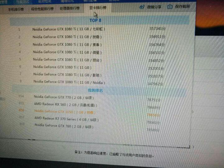 技嘉(GIGABYTE)GTX 1050 OC 1379-1493MHz/7008MHz 2G/128bit GDDR5显卡 晒单图