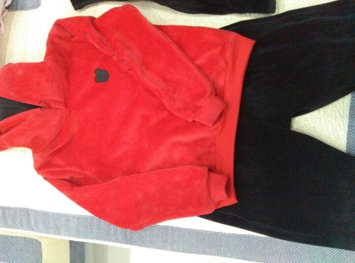 春秋季运动套装女新款金丝绒立领休闲班校服装卫衣长袖两件套 拼接迷彩两件套 L 晒单图