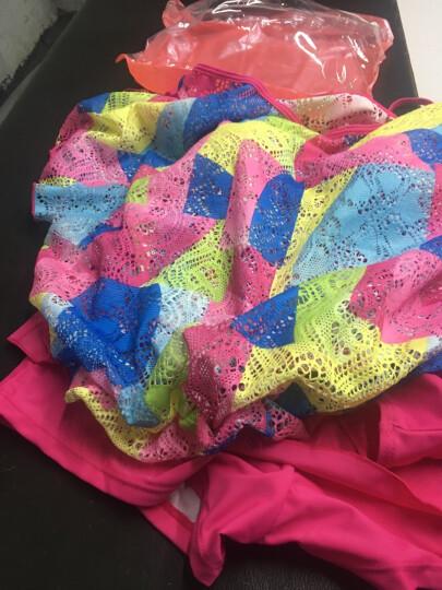 鼠爱爱 泳衣女新款分体裙式三件套显瘦聚拢钢托遮肚比基尼温泉泳装 36红色 XXL 晒单图