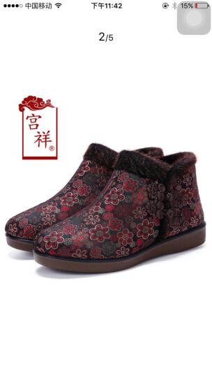 宫祥老北京布鞋冬季妈妈棉鞋加厚保暖中老年人奶奶鞋宽松加肥33 34大码41 4243 棕色 36 晒单图