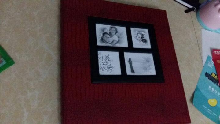 墨斗鱼 家庭照片册混装相册皮面插页相簿5寸6寸7寸600张儿童宝宝成长影集情侣结婚纪念册 鳄鱼纹-咖色 晒单图