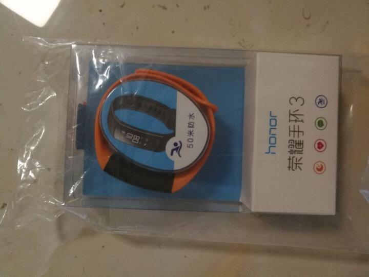 荣耀手环3  活力橙 标准版(智能运动 50米防水 24小时心率监测  科学睡眠检测  适配ios&安卓) 晒单图
