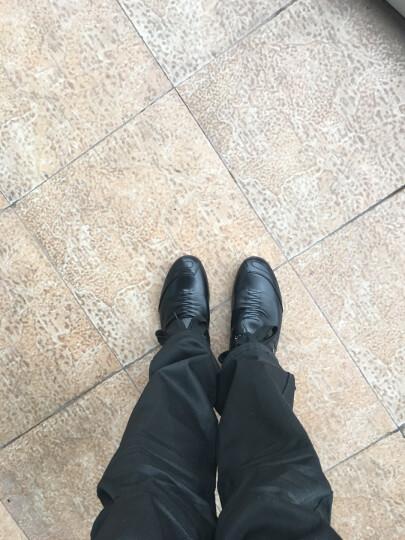 红蜻蜓男鞋子休闲皮鞋男士春季新品户外英伦系带单鞋韩版镂空凉鞋潮流青年 黑色内增高6CM 39 偏大一码 晒单图