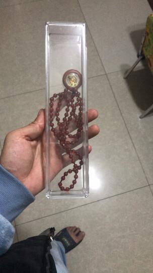 彩荷文玩佛珠礼盒保养盒柜台展示盒子透明盒珠宝亚克力圆形沉香养珠盘 项链盒 晒单图