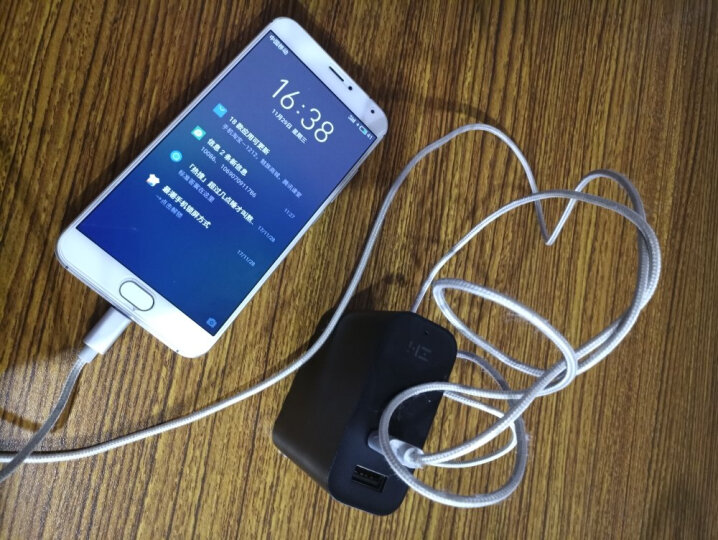 ZMI 紫米小米移动电源充电宝+充电器头超薄小巧便携二合一多口快充APB01智能双模 黑色 晒单图