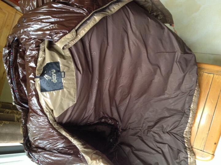 大羽冬季新款男装羽绒服时尚亮面可拆袖两穿羽绒服9231 卡其 3XL-190/108B 晒单图