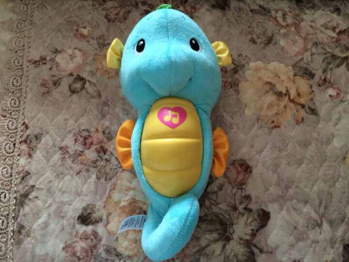 皇儿(HUANGER) 婴儿玩具健身架宝宝男孩女孩多功能儿童电子琴益智玩具安抚海马早教机 健身架+安抚海马粉色 晒单图