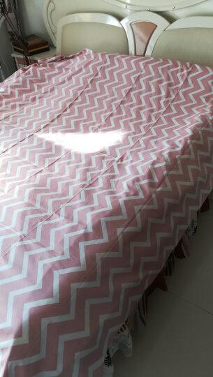 紫兰玉家纺 四件套纯棉斜纹印花被罩 床上用品简约全棉床单被套床品套件 朝花夕拾蓝 1.5米/1.8米床通用(被套200*230cm) 晒单图