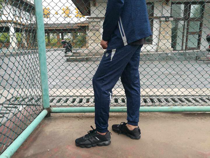 雷魅运动裤男长裤直筒 健身运动裤男休闲裤男透气宽松收脚裤E703 藏青白 XL 晒单图