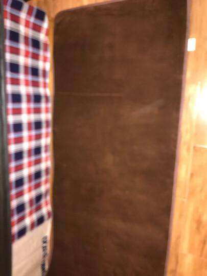 小冰人 珊瑚绒地毯 客厅沙发茶几卧室房间床边毯 榻榻米宝宝爬行垫门垫 咖啡 0.8*2米 晒单图