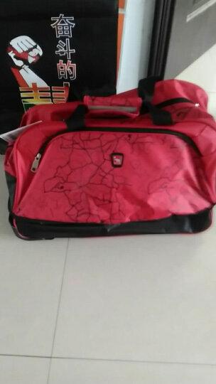 爱华仕 男女拉杆包 可扩容 可折叠大容量拉杆袋  旅行包行李包轻盈拖轮袋8019 红色 晒单图