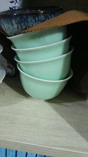 豪艺茗杰茶杯陶瓷 龙泉青瓷影雕单杯主人杯梅兰竹菊功夫茶杯山水鱼儿普洱品茗杯 菊花天青色 晒单图