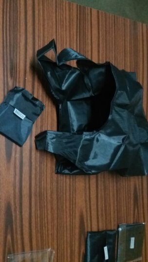 可折叠式宽口环保购物袋 无纺布袋子 手提袋购物袋 可折叠 黑色 晒单图