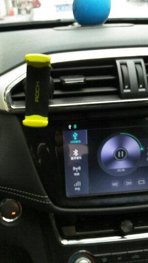 洛克(ROCK)车载手机支架 手机汽车出风口卡扣式支架 万向球款-绿色 晒单图