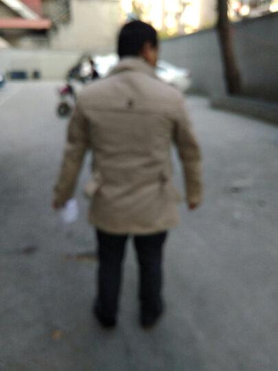 稻草人(MEXICAN)夹克男2018薄款秋冬装新款风衣男大码外套男 薄款 卡其色 XL 晒单图