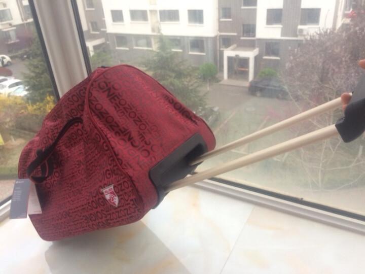 达派dapai拉杆包女旅行包男短途出差行李包大容量轻便登机包拉杆袋手提包旅游包袋842 红色 晒单图